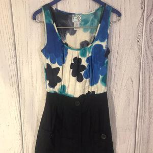 Floral Blue & White Summer Dress